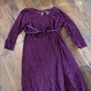 Beautiful purple maternity dress